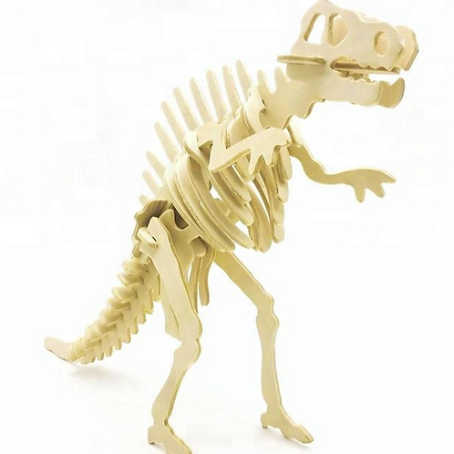 Wooden Spinosaurus 3D puzzle