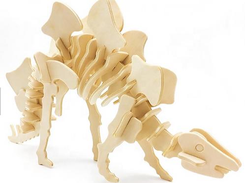 Wooden Stegosaur 3D puzzle