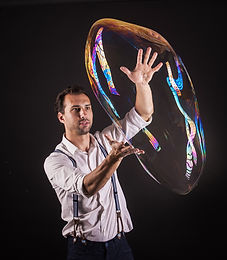 Stage bubble show in Singapore
