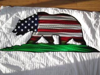 CA Bear USA flag