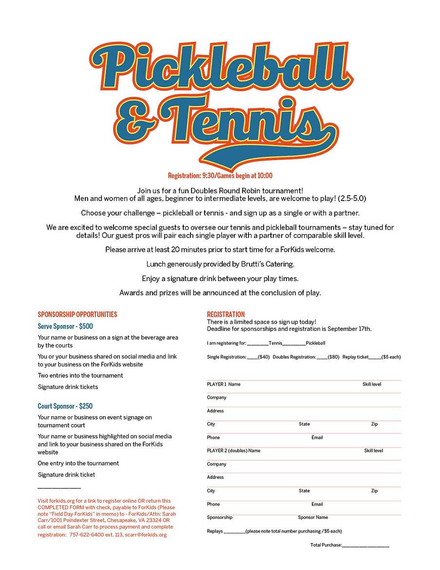 Pickleball Tennis