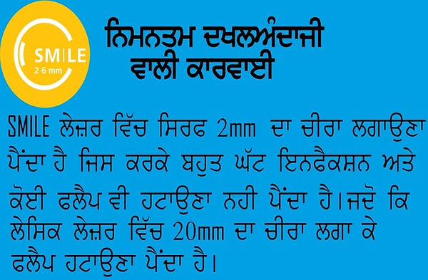 Smile Eye Surgery. Minimaly Invasive. Vector. Singla Eye Hospital and Laser Vision Centre, Kotkapura, Punjab