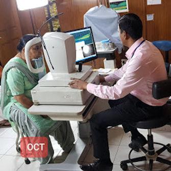 OCT at Singla eye hosital