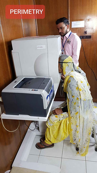 HFA Perimetry at Singla Eye Hospital, kotkapura, Punjab