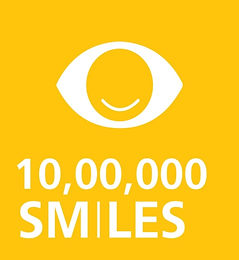 Smile eye surgery. Worldwide 1 million surgeries. Vector art. Singla Eye Hospital and Laser Vision Centre, Kotkapura, Punjab