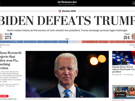"""Congratulations Mr. President-Elect: Joe Biden Wins the First Great Battle for the """"Soul of America"""""""