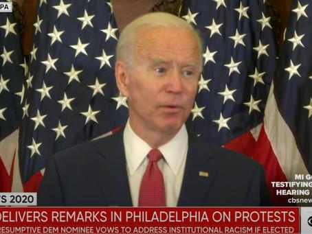 Joe Biden Outlines Agenda for Confronting 'Systemic Racism': Recalling How a President Should Speak