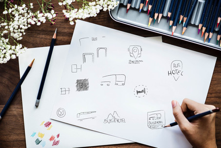 Schreibtisch Blatt zeichnen Mockup Scrib