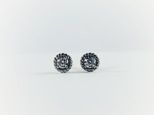 Silver Dainty Four-Prong Stud
