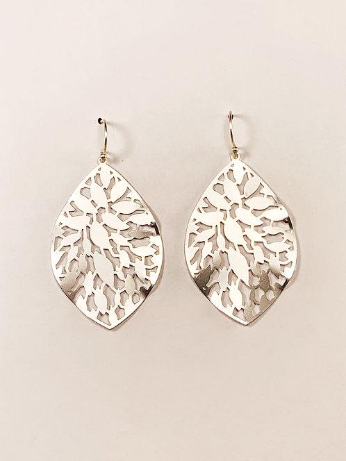 Silver Textured Leaf
