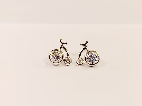 Silver Bicycle Stud