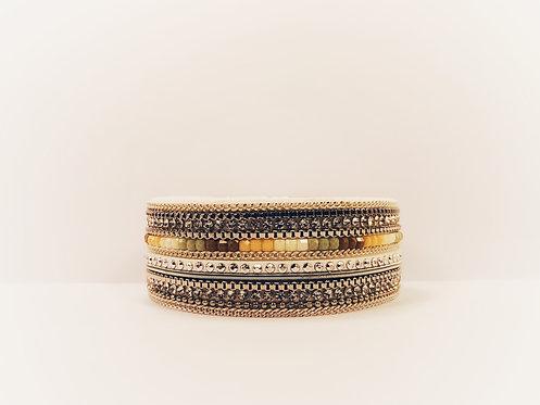Cream Textured Bracelet