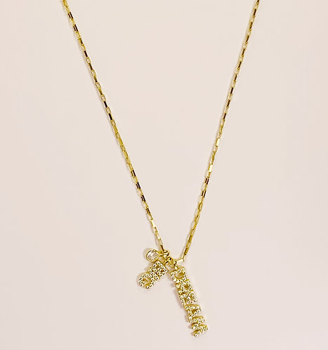 14K Gold over Sterling Silver Dream Big Necklace