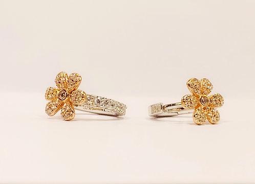 Sterling Silver - Rose Gold Flower