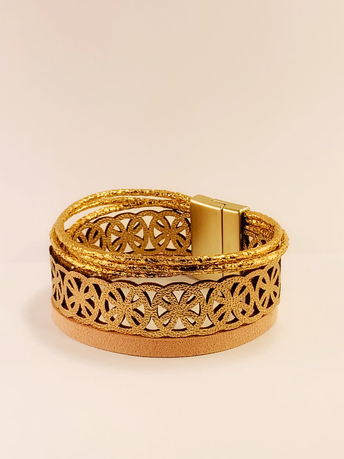 Gold Trilayer Bracelet