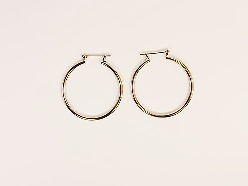 Small Silver Round Hoop