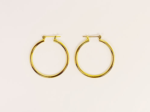 Small Gold Round Hoop