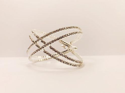 Silver Criss-Cross Bracelet
