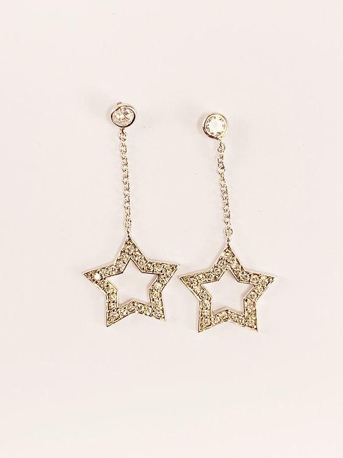 Silver - CZ Chain - Star