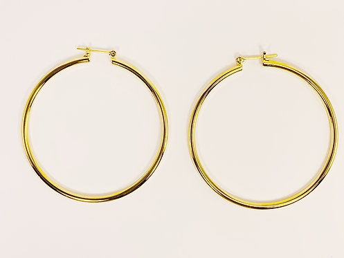 Large Gold Round Hoop
