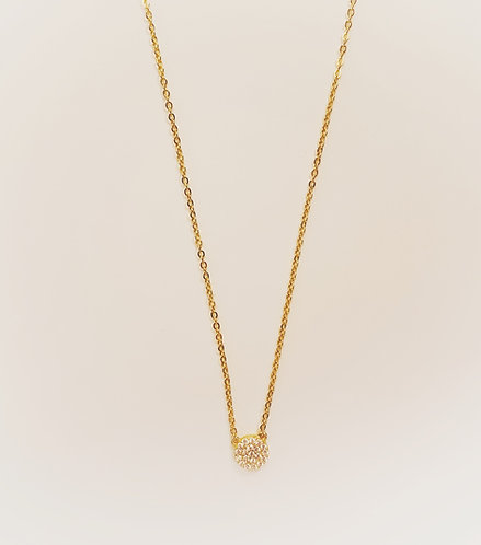 14k Gold over Sterling Round Necklace