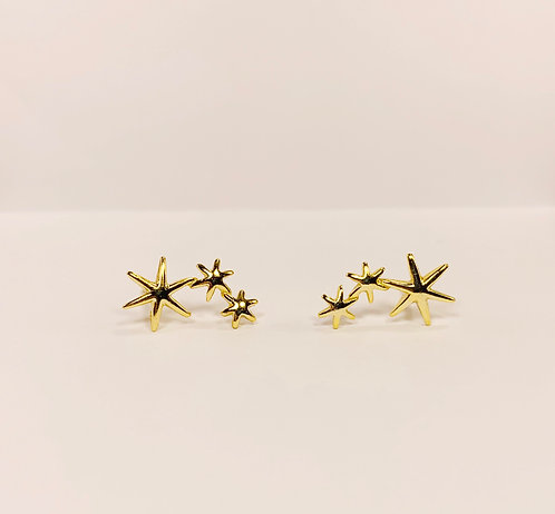 14k Gold over Sterling Silver Stars
