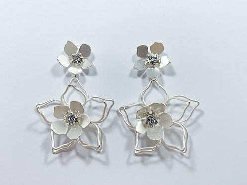 Silver Flower Drop