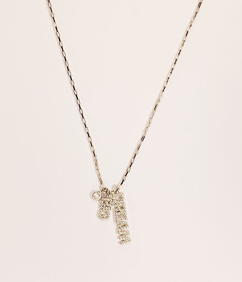 Sterling Silver  Dream Big Necklace