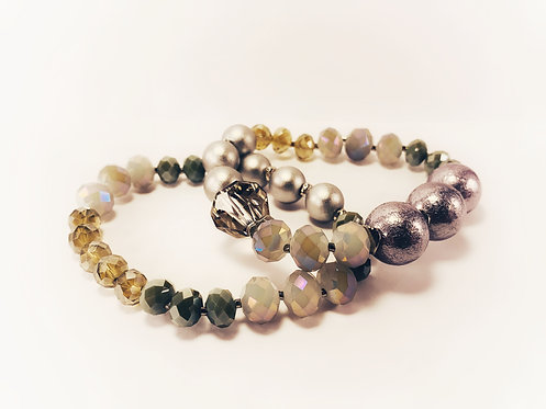 Mosaic Silver Bracelets