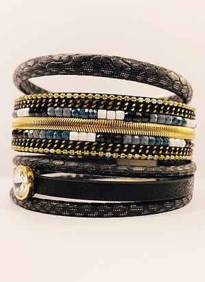 Multilayer Black Bracelet