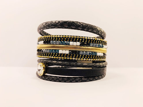 Multilayer Black Bracelet