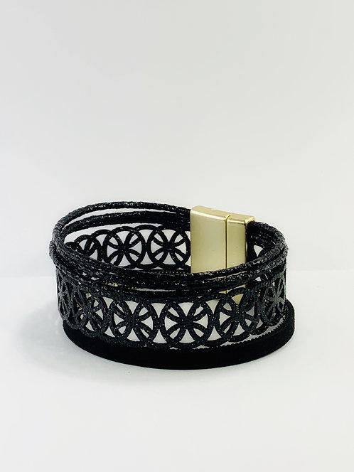 Black Trilayer Bracelet