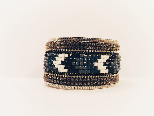 Geometric Textured Bracelet
