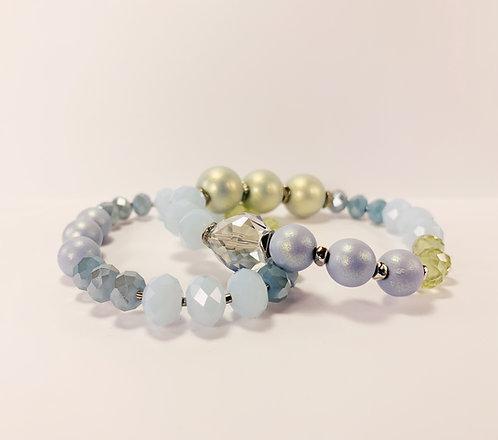 Mosaic Aqua Bracelets