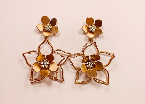Rose Gold Drop Flower
