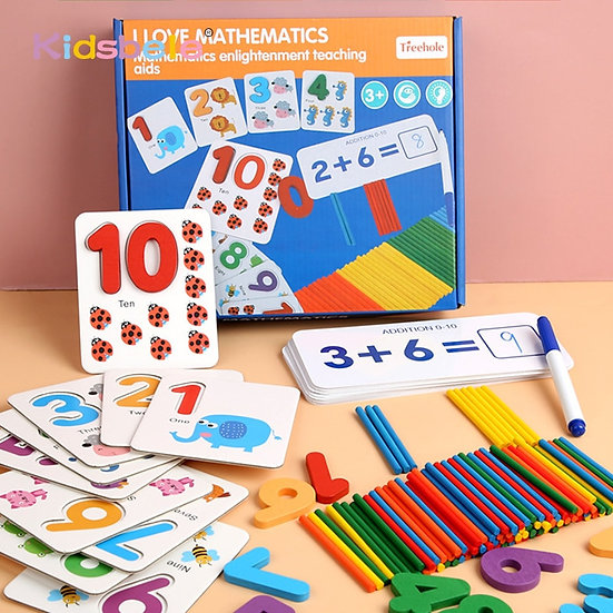 Wooden Mathematics Counting Toy