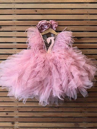 Flamingo Baby Dress (made-to-order)