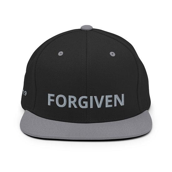 Forgiven Gray Snapback Hat