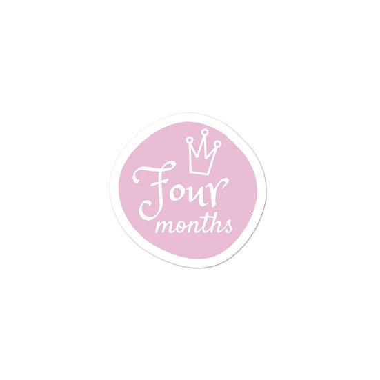 Four Months Baby Milestone Bubble-free sticker