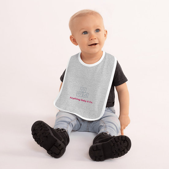 Anything Baby Embroidered Baby Bib