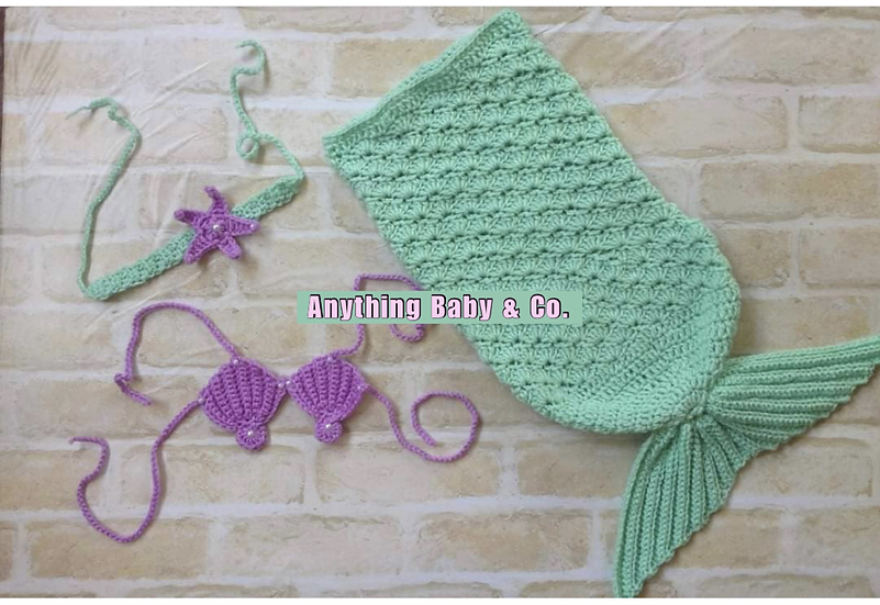 Little Mermaid Hand Knitted Costume Set