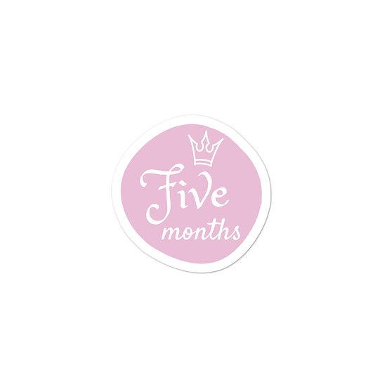 Five Months Baby Milestone Bubble-free sticker