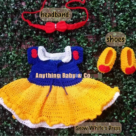 Snow White Hand Knitted Costume Set
