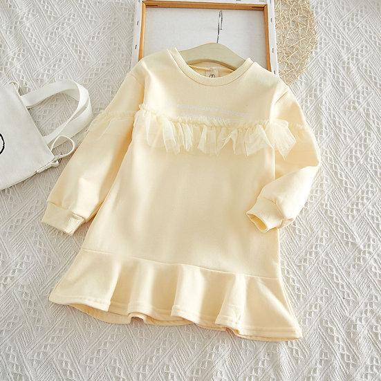 Long Sleeve Hooded Dress for  Girls