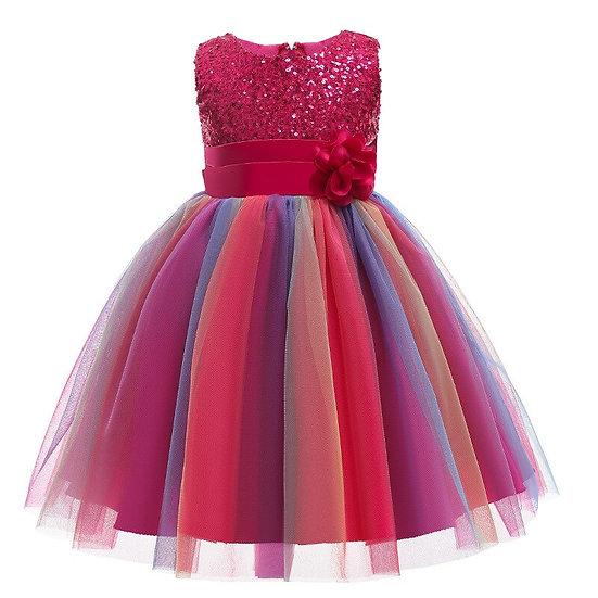Embroidered Formal Princess Dress for Girls
