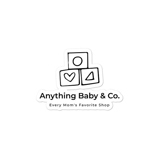Anything Baby Bubble-free stickers