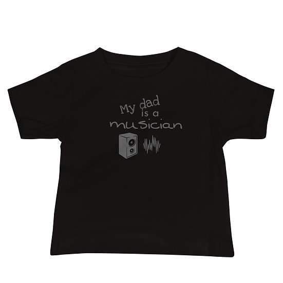 My dad is a musician Baby Jersey Short Sleeve Tee