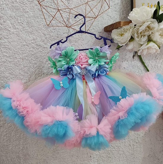 Floral Tutu Dress Set