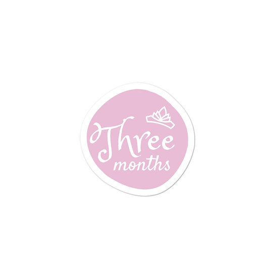 Three Months Baby Milestone Bubble-free sticker