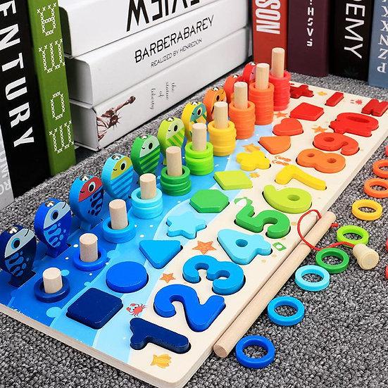 Montessori Educational Wooden Busy Math Board